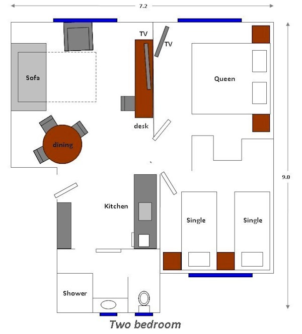 Two Bedrooms  Plan