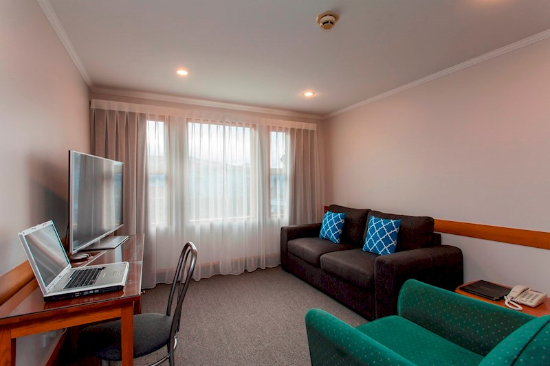 Amross Spa rooms are upstairs one bedroom self-contained units, with separate bedroom and lounge areas.