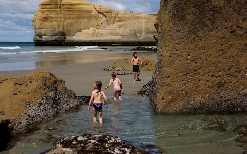 Tunnel beach Dunedin swimming.JPG